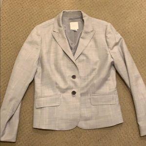 J Crew Super 180s light grey pant suit
